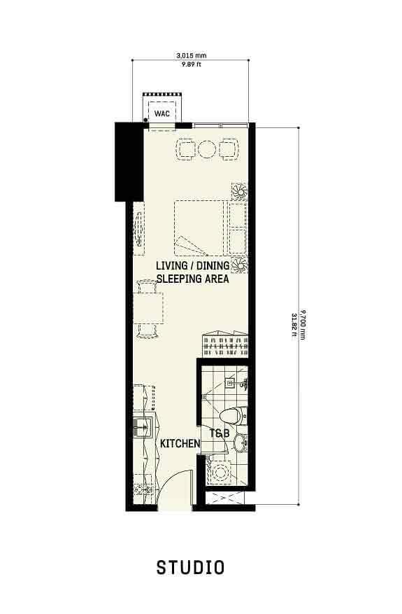 The Gentry Residences - Studio Unit