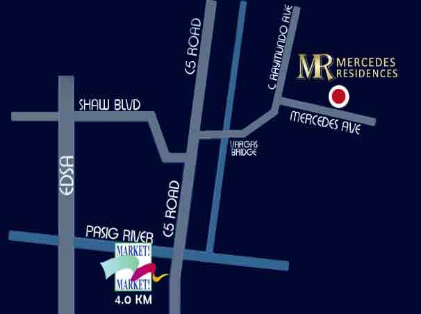Mercedes Residences - Location Map