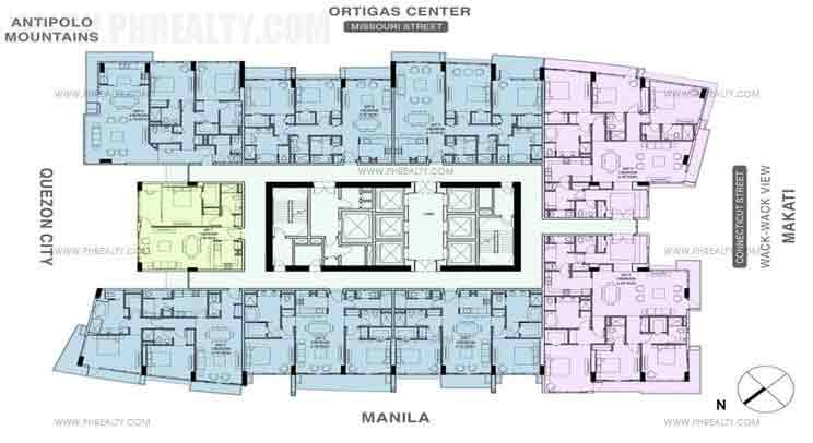 The Viridian At Greenhills - High Zone Layout