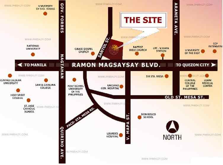 The Silk Residences - Location Map