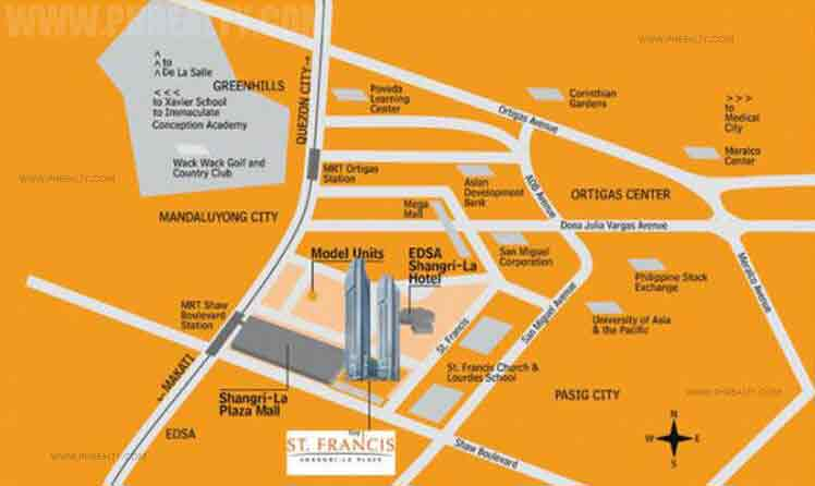 St. Francis Shangri La Place - Location Map