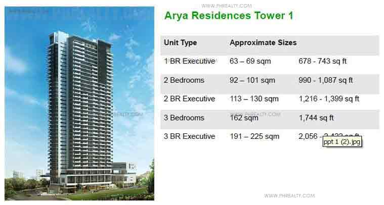 Arya Residences - Arya Residences Tower