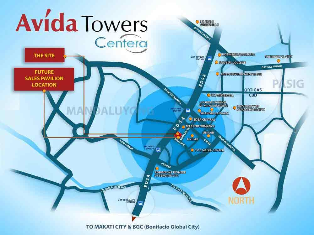 Avida Towers Centera  - Location