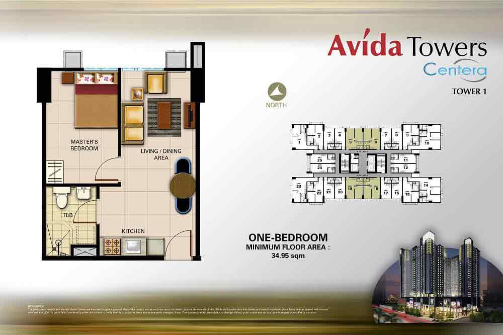 Avida Towers Centera  - 1 Bedroom Unit