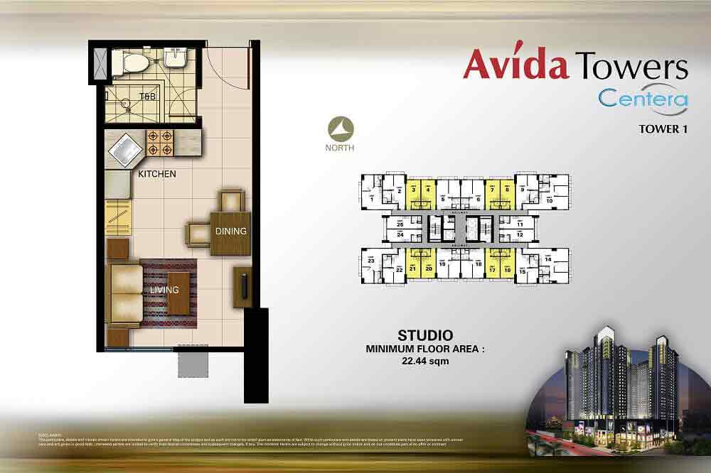 Avida Towers Centera  - Studio Unit