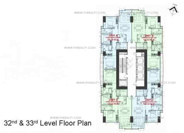 Valero Grand Suites - 32nd & 33rd Level Floor Plan