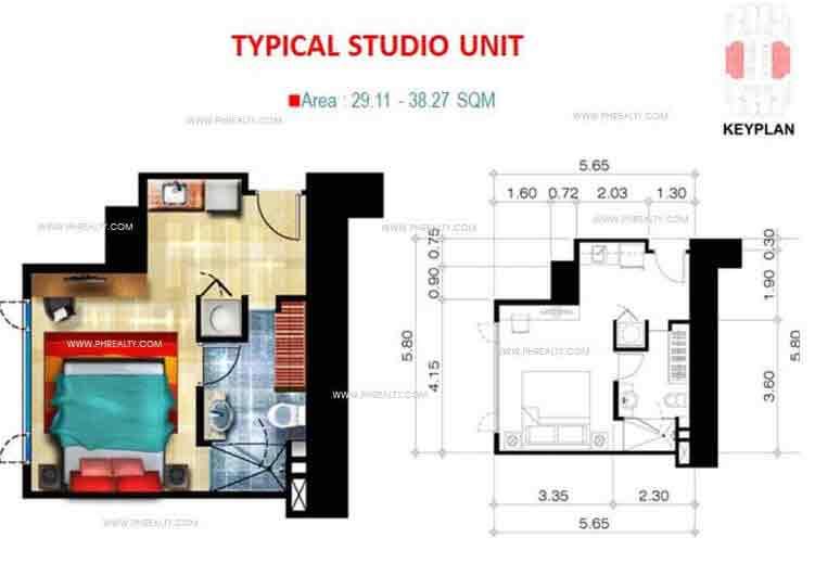 Valero Grand Suites - Typical Studio Unit