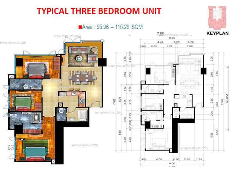 Valero Grand Suites - Typical Three Bedroom Unit
