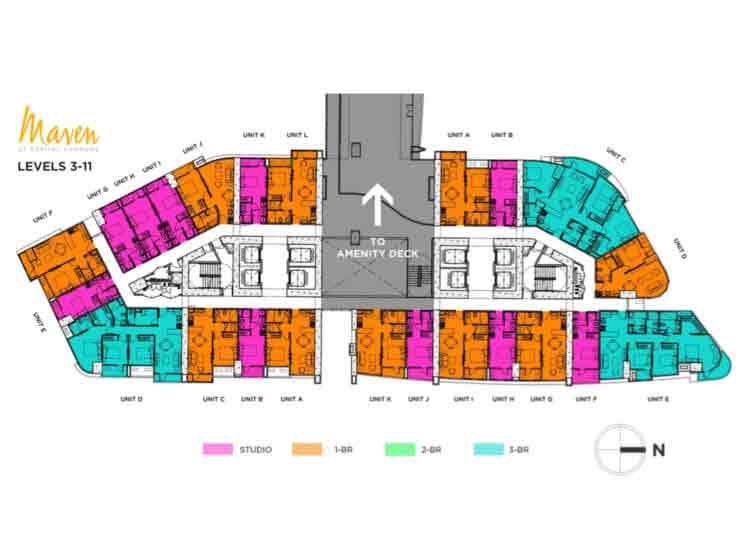 Maven Capitol Commons - Level 3 - 11 Floor Plan