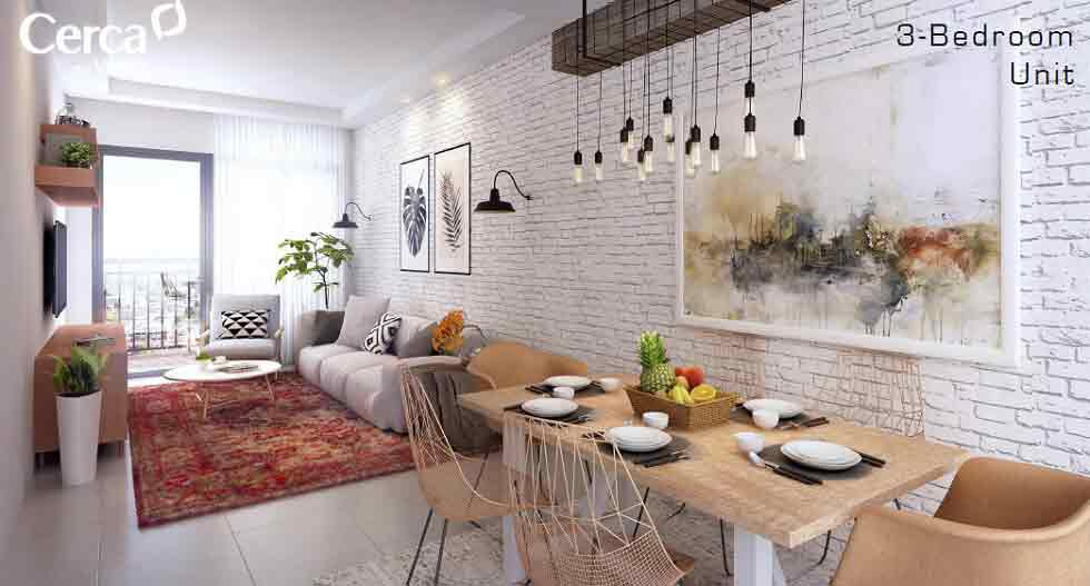 Cerca Alabang - Dining & Living Room