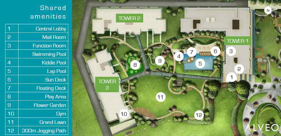 Cerca Alabang - Amenity Plan