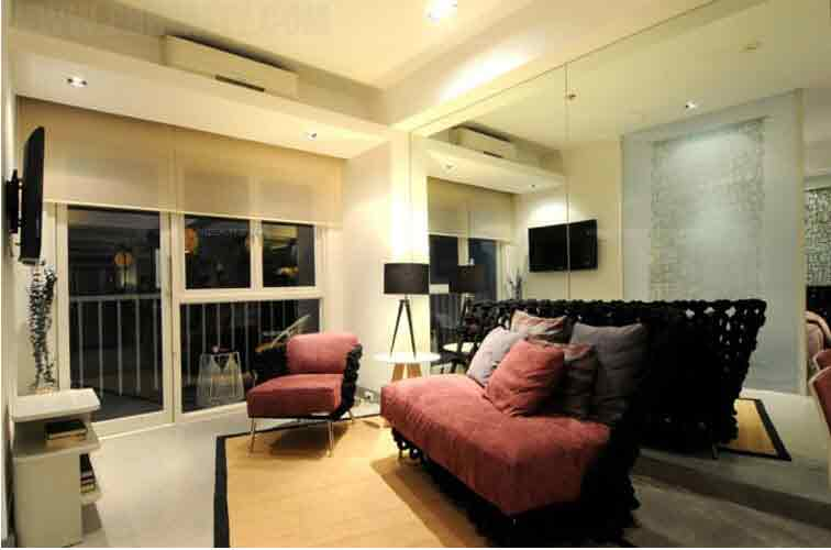 Signa Designer Residences - 1 BR Upgraded Model Unit Living Room