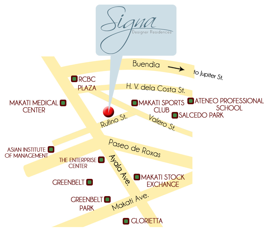 Signa Designer Residences - Location