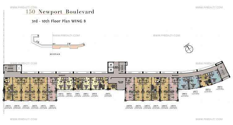 150 Newport Boulevard - Wing B Floor Plan