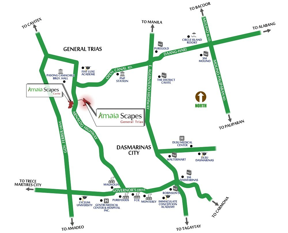 Amaia Scapes General Trias - Location
