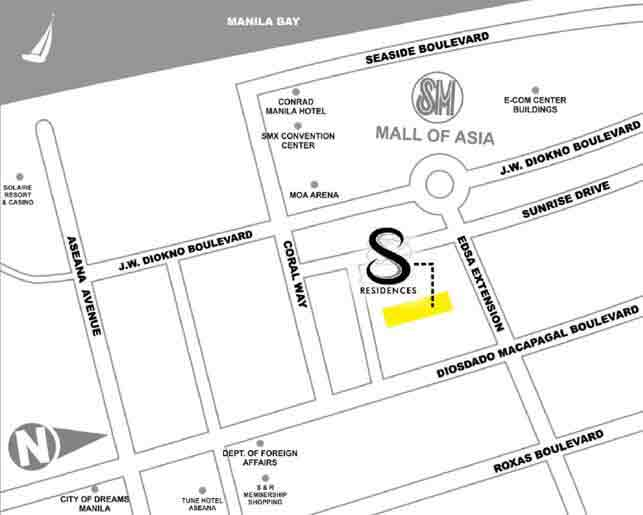 S Residences - Location Map