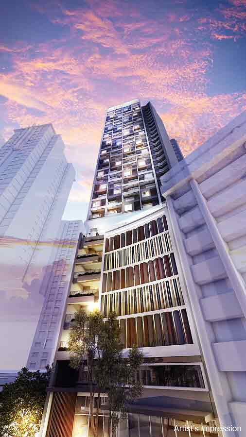 The Ellis Makati - Facade - Magic Hour