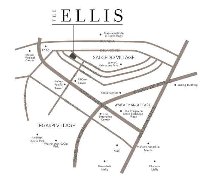 The Ellis Makati - Location Map
