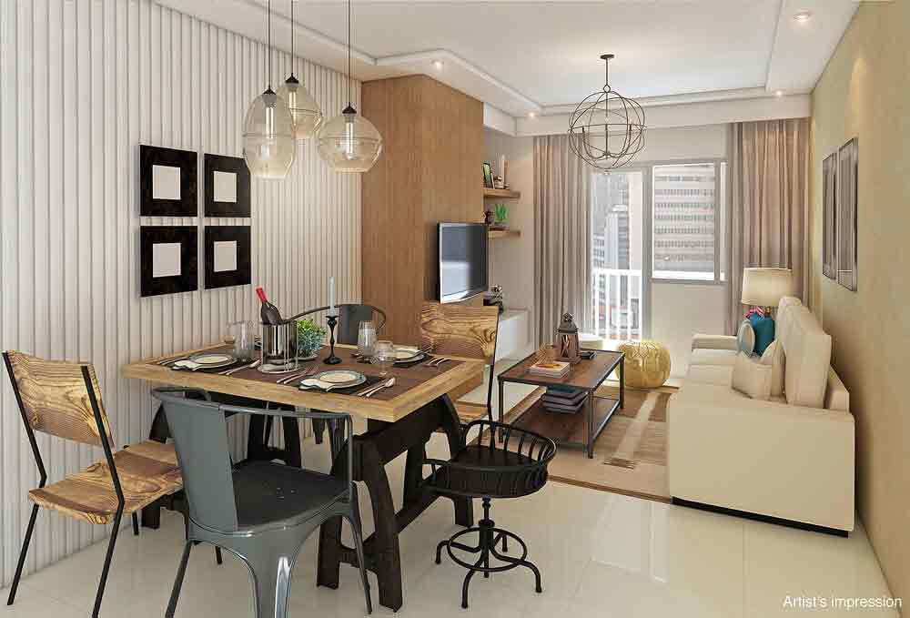 The Ellis Makati - Living and Dining Area