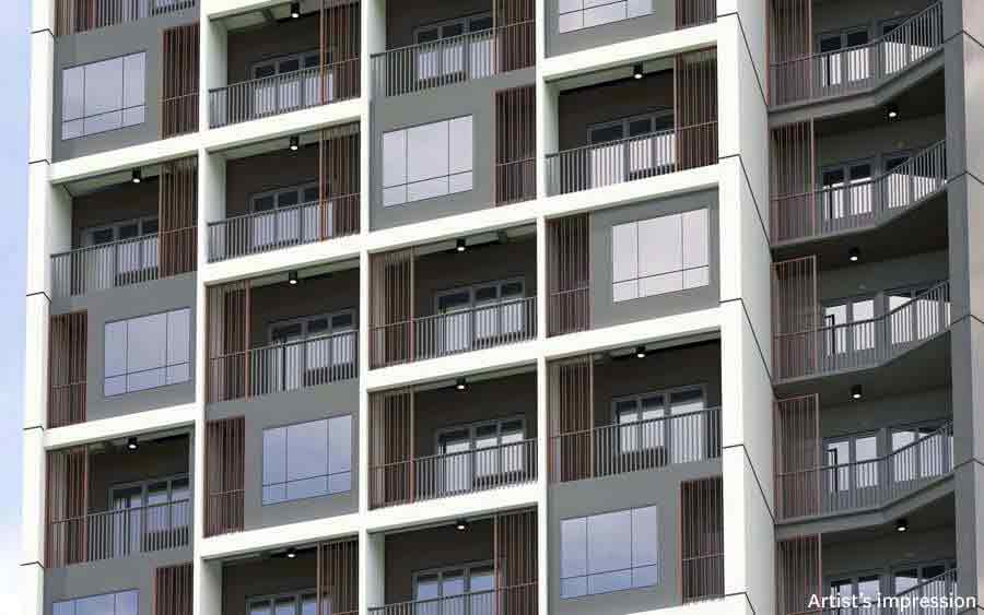 The Ellis Makati - Facade - Balconies