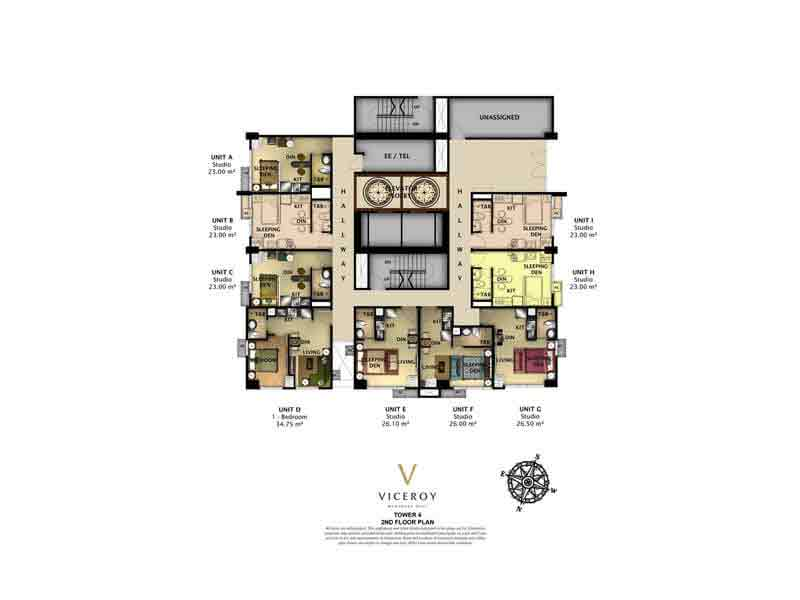 The Viceroy - Tower 4 - 2nd Floor Plan