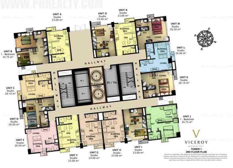 The Viceroy - Tower 1 - 2nd Floor Plan