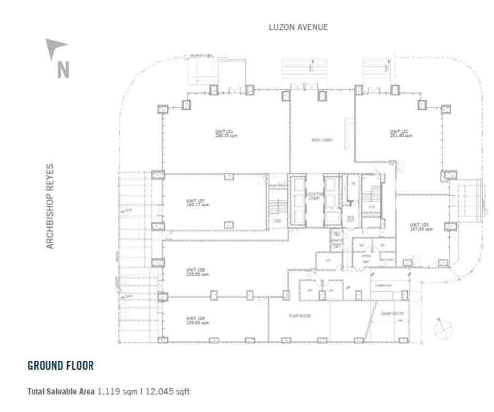 BPI Cebu Corporate Center - Ground Floor Plan