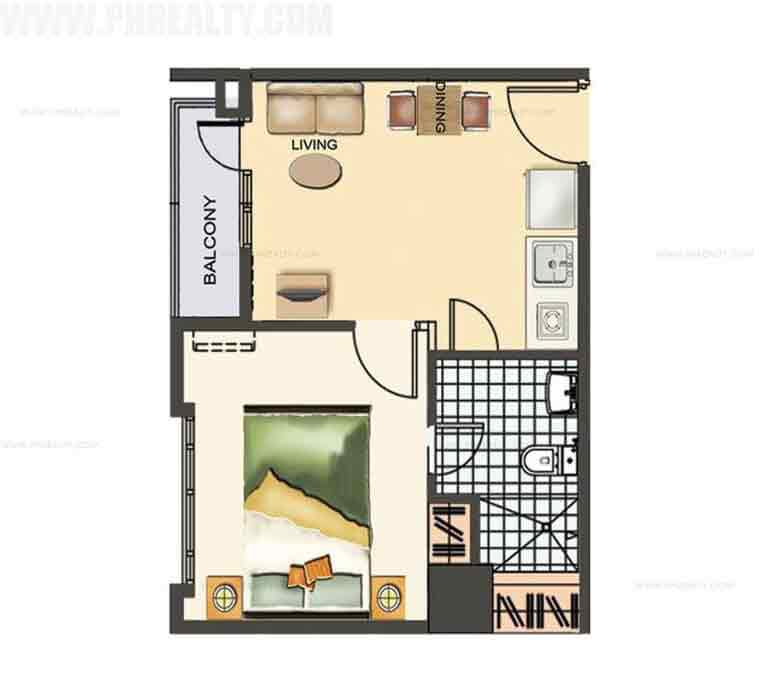 Sentrale Residences - 1 Bedroom Suite 33.60 SQM