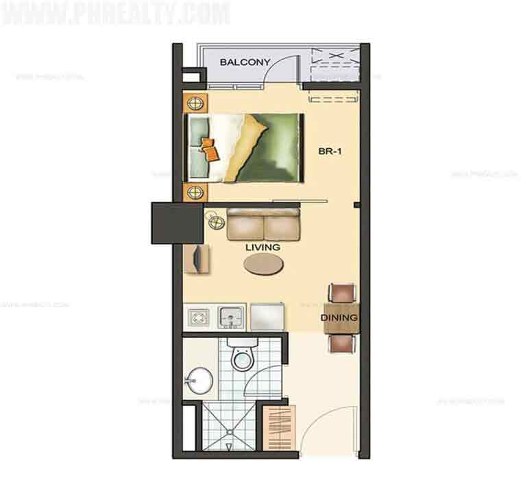 Sentrale Residences - 1 Bedroom Unit 24.50 SQM