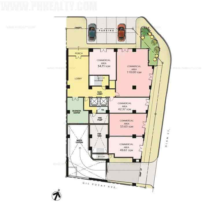Sentrale Residences - Ground Floor Plan