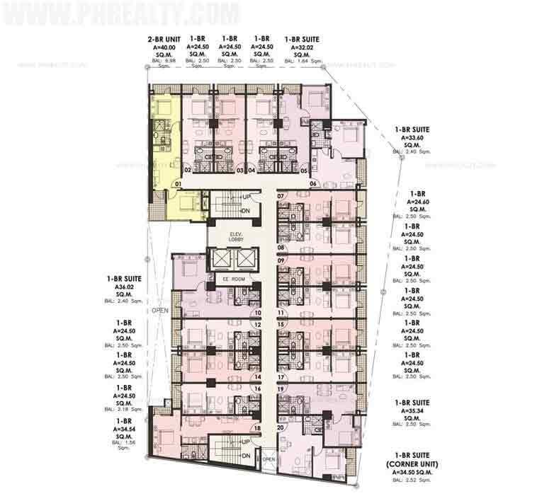 Sentrale Residences - Residential Floor Plan
