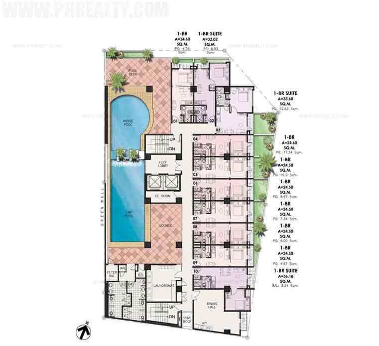 Sentrale Residences - 5 th Floor Amenity Plan