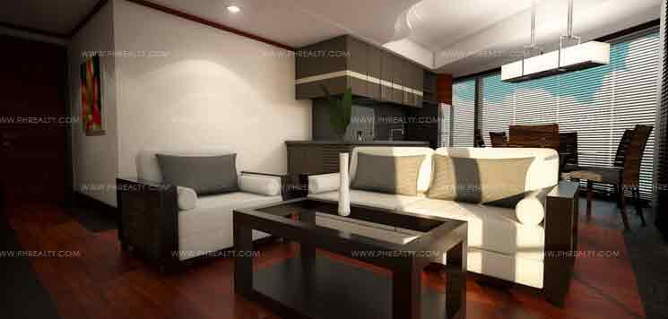 Sentrale Residences - Artist Perspective of Living Room