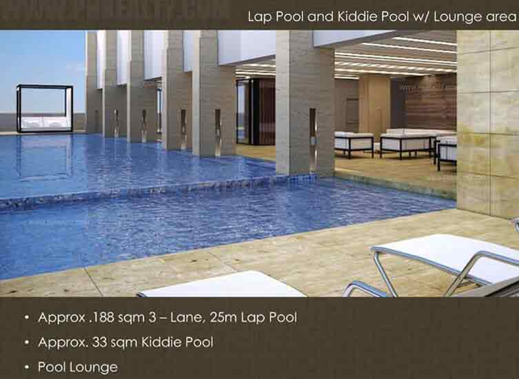 Escala Salcedo  -  Lap Pool & Kiddle Pool & Lounge Area