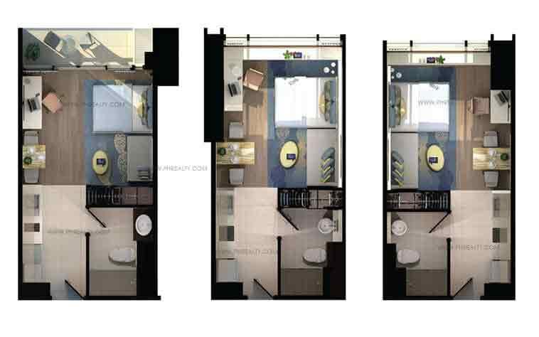 Shang Salcedo Place - Studio Type a, b, c