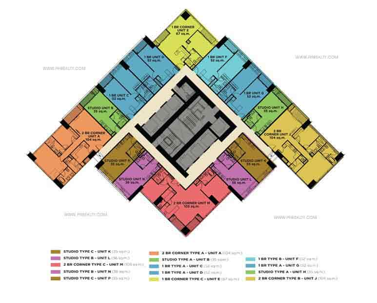 Shang Salcedo Place - Floor Plans
