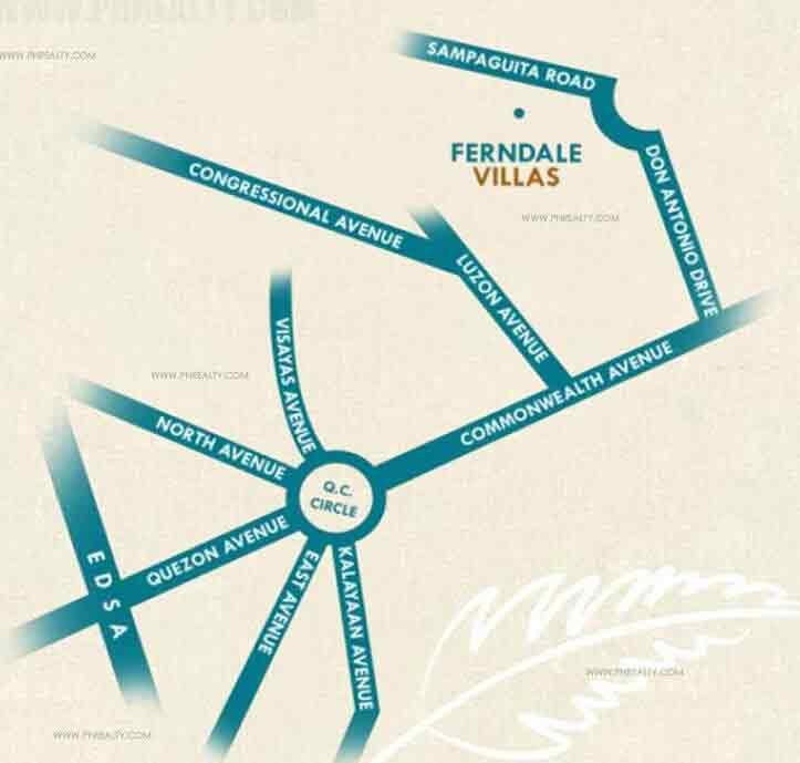 Ferndale Villas - Location Map