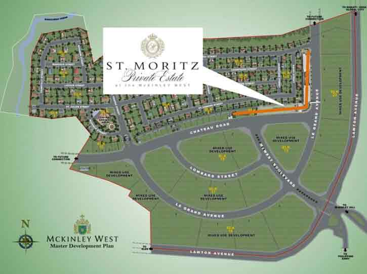 St. Moritz Private Estate - Location Map