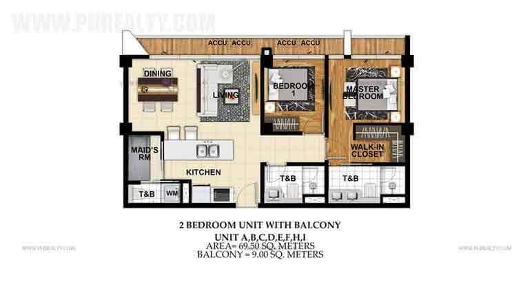 St. Moritz Private Estate - Unit A,B,C,D,E,F,H,I 2 Bedroom Unit