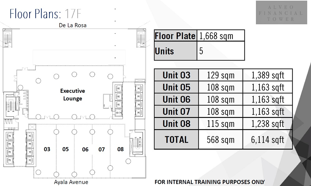 Alveo Financial Tower -  17th Floor Plan
