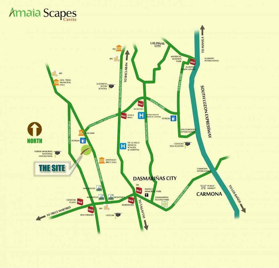 Amaia Scapes Cavite - Location