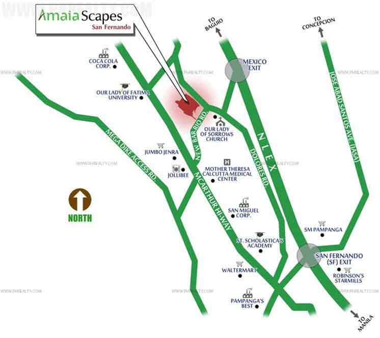 Amaia Scapes San Fernando - Location Map
