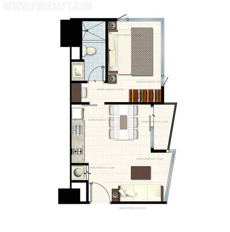 Breeze Residences - One Bedroom Deluxe End Unit With Balcony