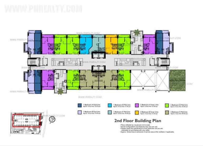 Fairway Terraces - 2nd Floor Building Plan
