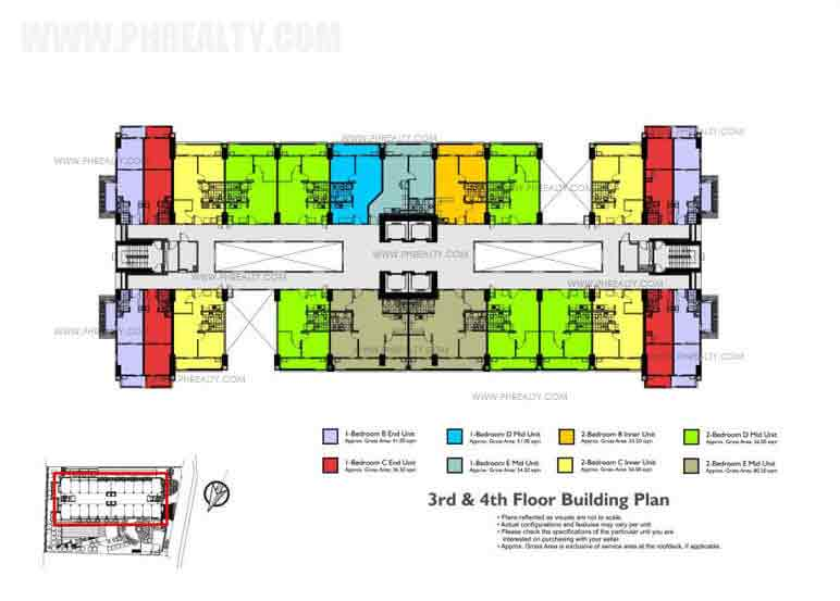 Fairway Terraces - 5th - 6th - 7th Floor Building Plan
