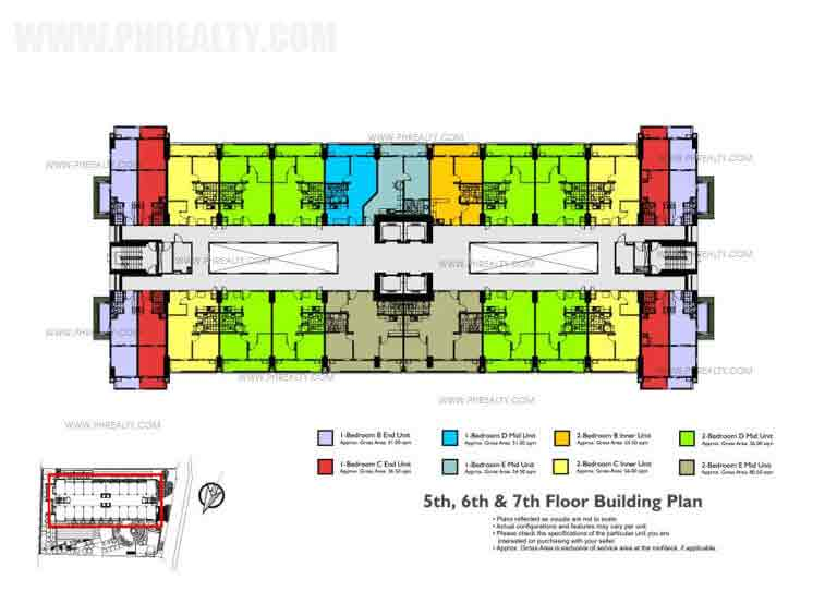 Fairway Terraces - 3th - 4th Floor Building Plan