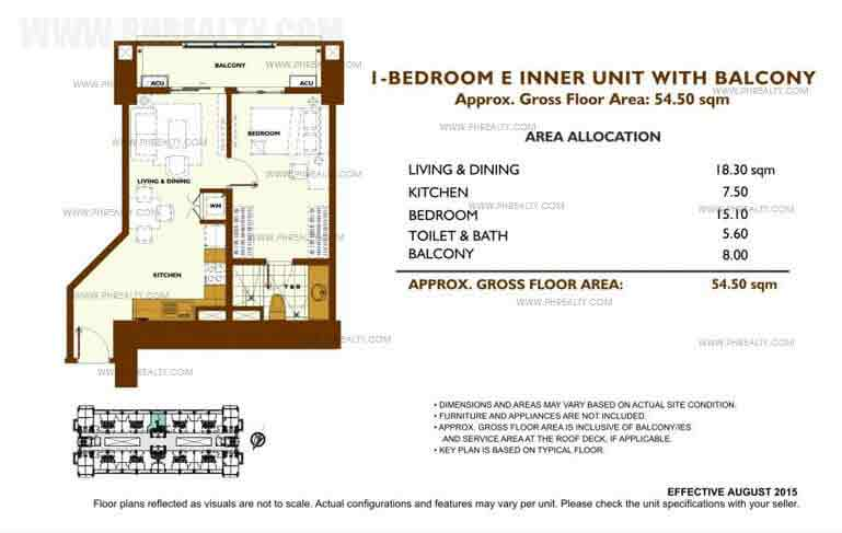 Fairway Terraces - Unit Plan 1 Bedroom - E
