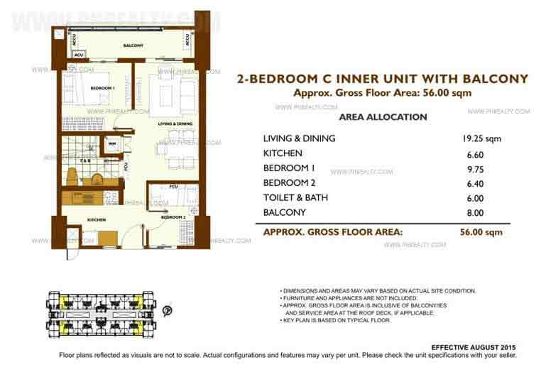 Fairway Terraces - Unit Plan 2 Bedroom - C