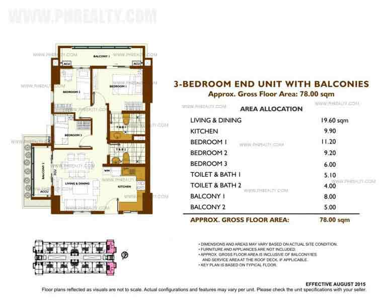 Fairway Terraces - Unit Plan 3 Bedroom