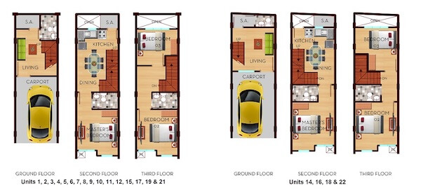 Santa Ana Townhomes III - Floor Plan